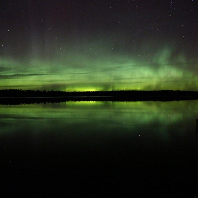 Credit: NPS/Dimse The Aurora Borealis over Voyageurs National Park