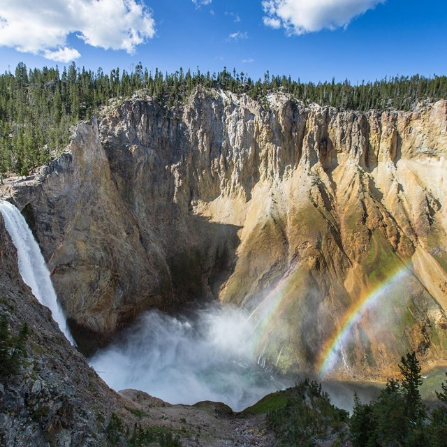 Double rainbow at the Lower Falls of the Yellowstone River