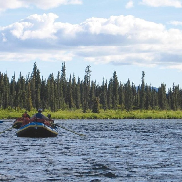 Boaters on the Alagnak River