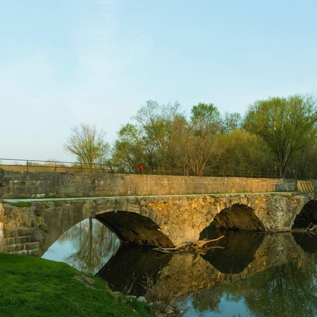 Credit: NPS | Monica Larcom. The Conococheague Aqueduct