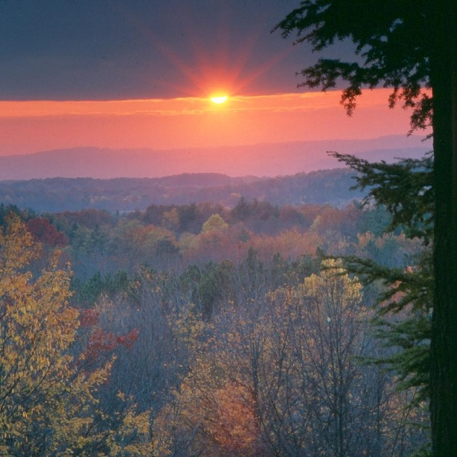 Ledges overlook at sunset