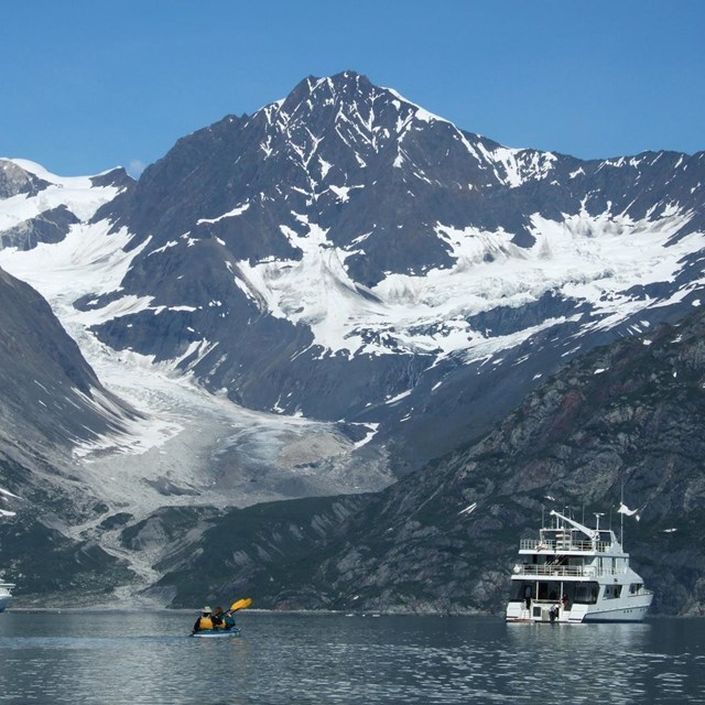 Spectacular scenery at the mouth of Johns Hopkins Inlet.