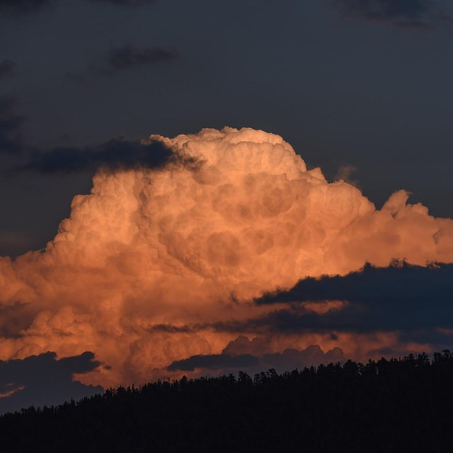 Thunderhead cloud at sunset