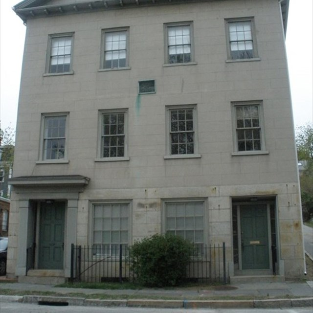 Picture of the House that is located on the lot where Roger Williams lived and was buried..