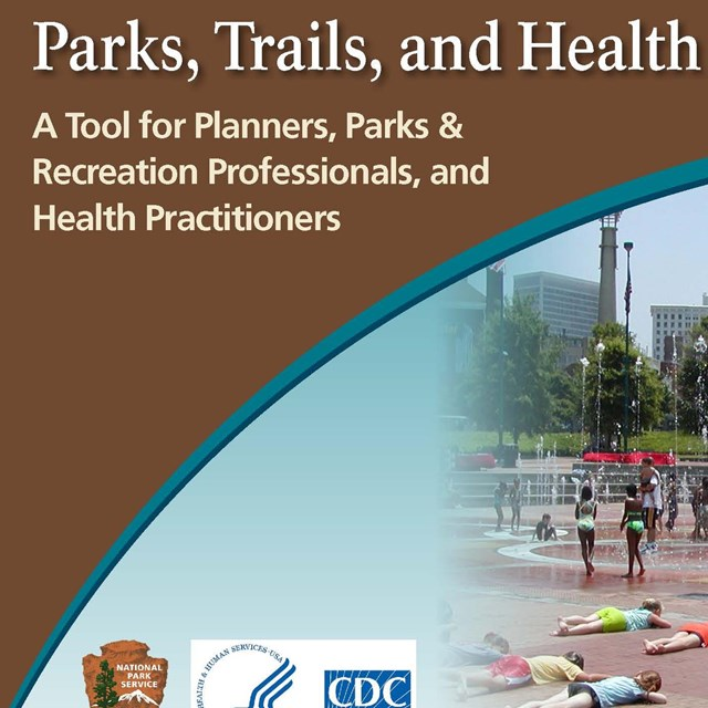 Front page of the Parks, Trails, and Health handbook
