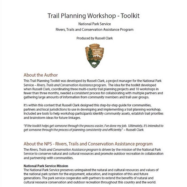 Trail Planning Workshop Toolkit