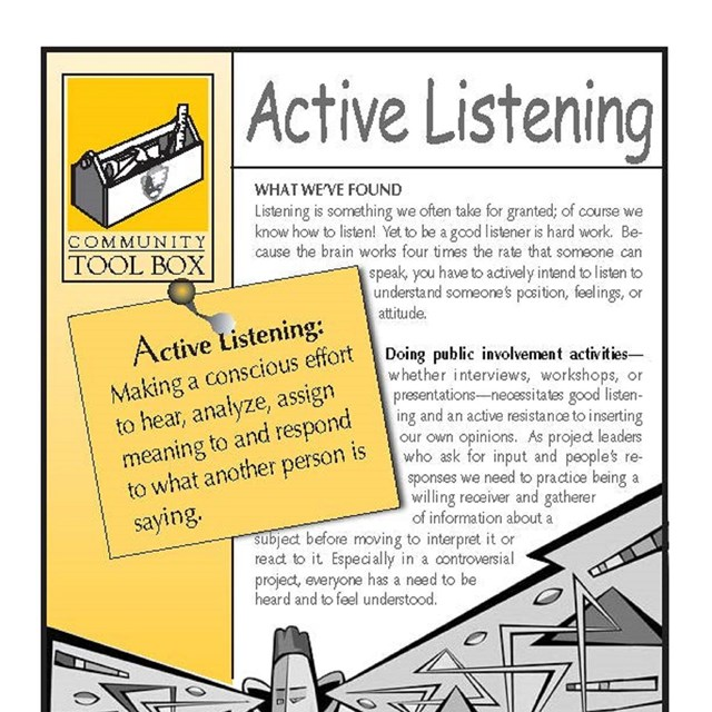 Front page of the Active Listening chapter