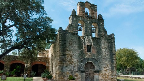 View of church at Mission Espada