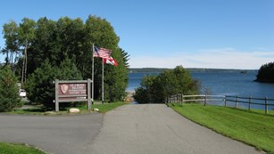Entrance to Saint Croix Island International Historic Site