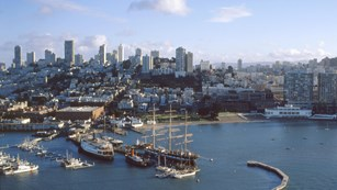 Aerial view of San Francisco Maritime National Historical Park