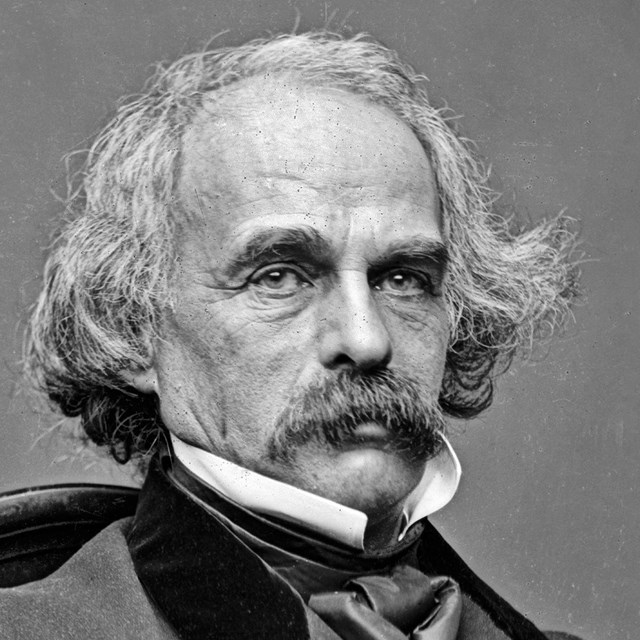 Black and White Portrait of Nathaniel Hawthorne