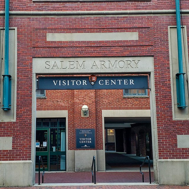Front view of the current Salem Armory