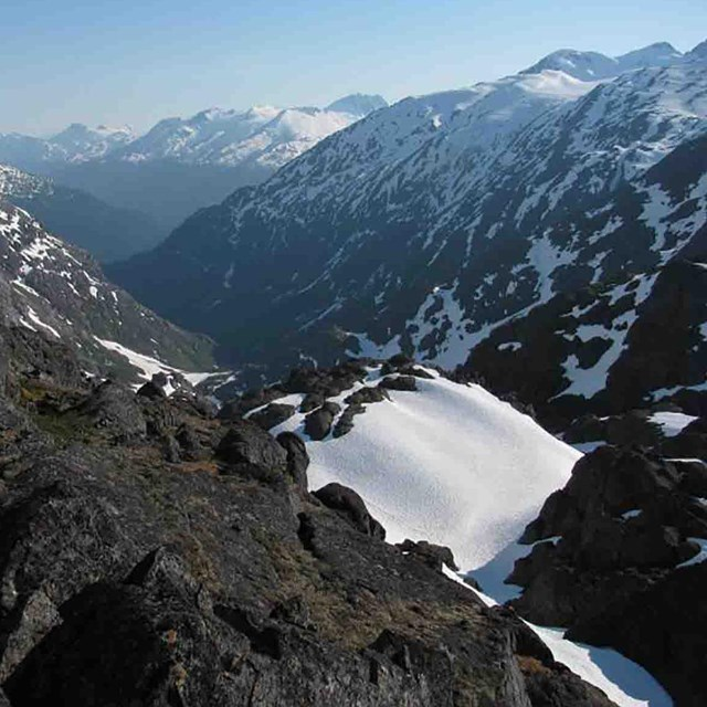 The rugged Chilkoot Trail.