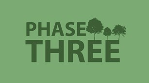 A logo of the words Phase Three