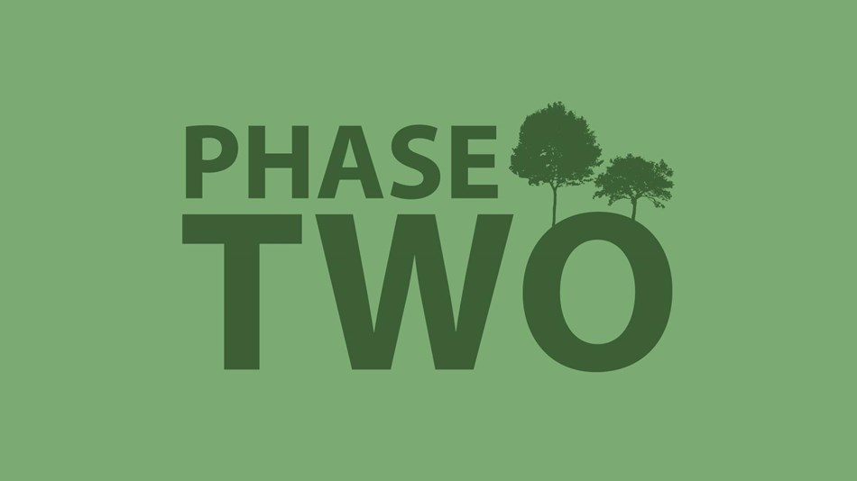 A logo of the words Phase Two