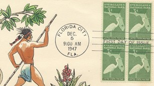 Everglades National Park dedication first-day cover