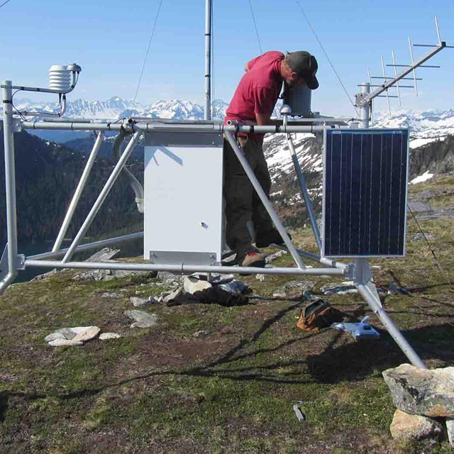 A researcher maintains a weather station.