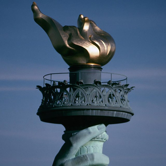 Statue of Liberty torch, NPS photo