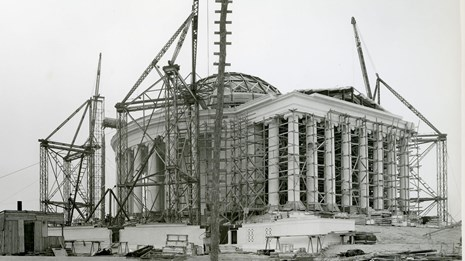 Jefferson Memorial under construction