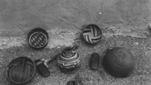 Upper cliff dwelling pottery