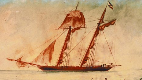 oil painting of the amistad