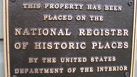 image of a national register plaque