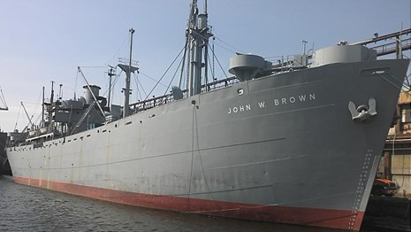 SS John Brown on the water