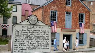 harpers ferry sign interpreting lewis's time there