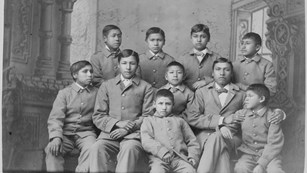 group of boys at the carlisle indian school