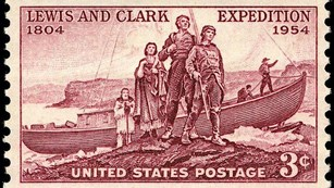 1954 stamp commemorating the lewis & clark expedition