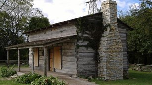 reproduction of george rogers clark cabin