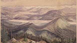 drawing of clark's lookout