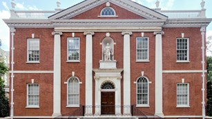 exterior of the american philosophical society library
