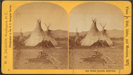 1871 photograph of Nez Perce in Montana