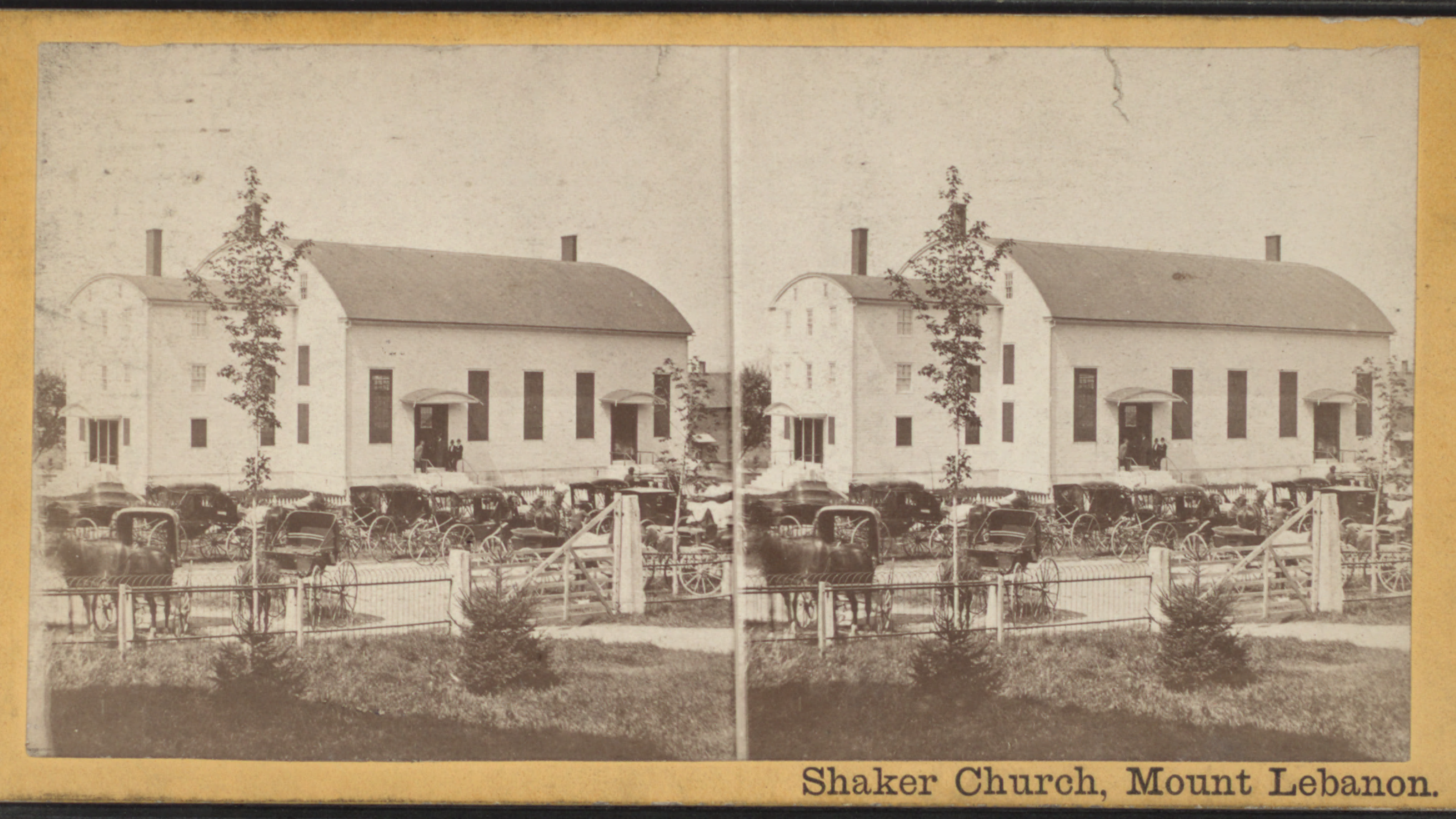 historic photo of a white church with a rounded roof