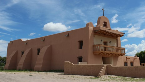 San Ildefonso Pueblo Mission, photograph courtesy of M. Bucka