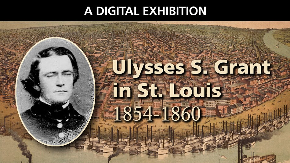 Composite image of Ulysses S. Grant and St. Louis City Riverfront