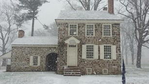 A stone structure where General George Washington stayed.