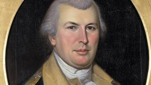 A painting of Revolutionary War General Nathaniel Greene