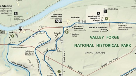 Valley Forge Map Valley Forge National Historical Park (U.S. National Park Service)