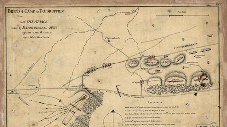 Scan of Battle of Paoli Map