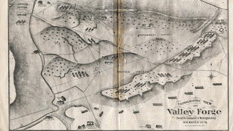 Map Of Valley Forge