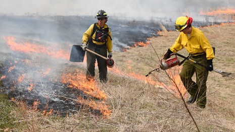 Firefighters Conduct Prescribed Fire Operations
