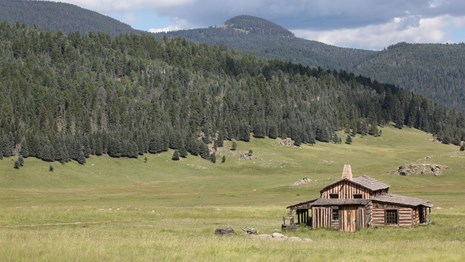 View of Missing Cabin in the Valle Grande.