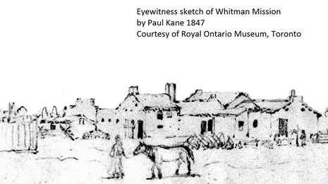 Outline of Whitman Home 1847