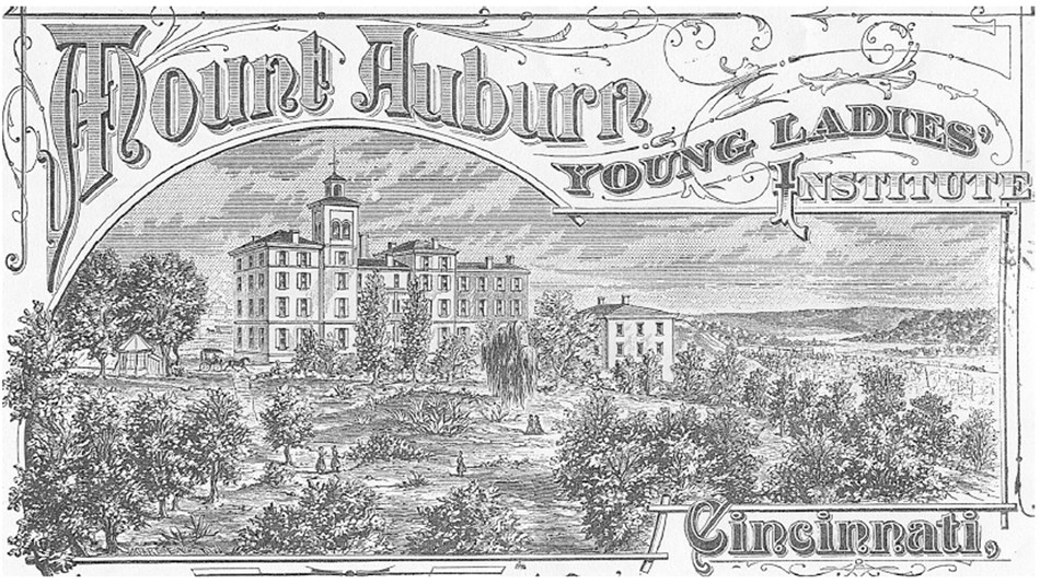 An artists sketch rendering of the Mt. Auburn area, c.1850