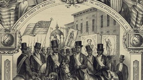 Celebration of the ratification of the 15th Amendment. Library of Congress.