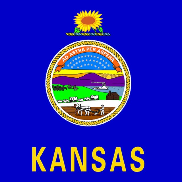 State flag of Kansas, CC0