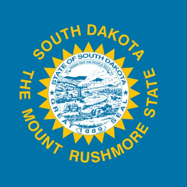State flag of South Dakota, courtesy Wikipedia.