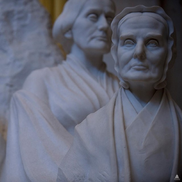 Sculpture of Susan B. Anthony, Elizabeth Cady Stanton, and Lucretia Mott, USCapitol, CC0